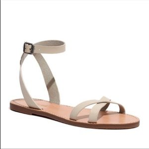 MADEWELL Nude Wrap Sandals